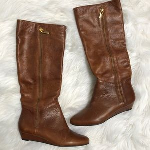 4ea8dcef4a2 Steve Madden Inragee Cognac Leather Boots Sz 6
